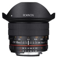 Rokinon 12M-N 12mm F2.8 ED AS IF UMC Fisheye AE chip for Nikon
