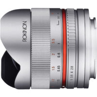 NEW Rokinon RK8MS-FX 8mm F2.8 UMC Fisheye II Fisheye for Fujifilm X-Mount (Silver)