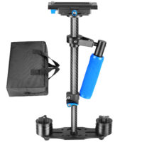 Neewer Carbon Fiber 15.7″ Small Handheld Stabilizer with Quick Release Plate