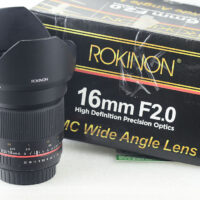 Rokinon 16mm F2 Ultra Wide Angle Cine Lens for Canon EF-S