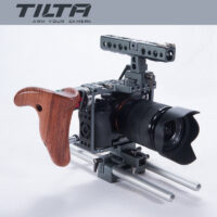 TILTA ES-T17-A Camera Cage w/ New Version Wooden Grip for Sony A7 seri