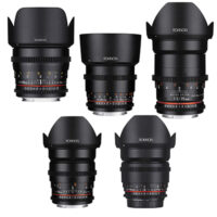 SET OF 5 – Rokinon Cine DS 16/24/35/50/85mm ED AS IF UMC