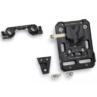 TILTAING Mini V-Mount Battery Plate with Rod Adapter
