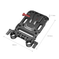 SMALLRIG V-Mount Battery Plate with Rod Clamp 3016