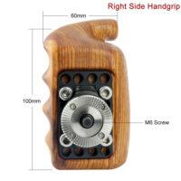 NICEYRIG Right Side Arri Rosette Wooden Hand Grip