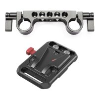 SMALLRIG Mini V Mount Battery Plate with 15mm Rod Clamp